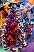 Big Mardi Gras balls and beads, Fremont Street Experience, Downtown  Las Vegas, Nevada USA.