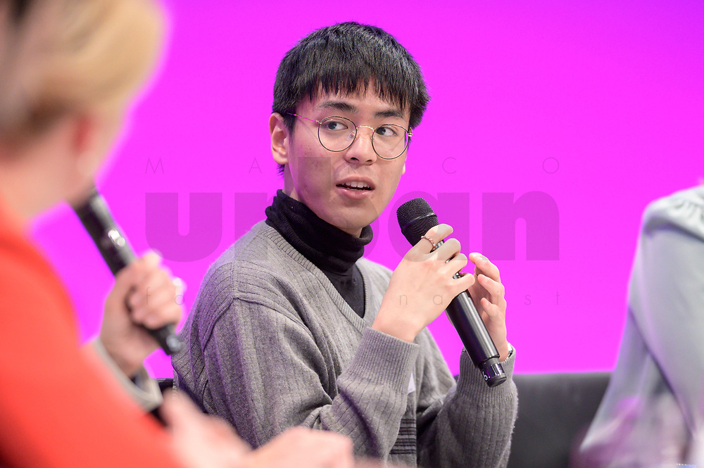 06 JAN 2020, KOELN/GERMANY:<br /> Quang Anh Paasch, Klimaaktivist, Fridays for Future, dbb Jahrestagung, Koeln Messe<br /> IMAGE: 20200106-01-260