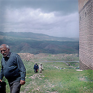 Local residents on the way to Ishak Pasha Palace and Bayazit Mosque where celebrations dedicated to Ahmad Khani are taking place...Ahmad Khani was a first Kurdish writer ,poet and philosopher and his tomb is placed by Ishak Pasha Palace . Area of Dogubayazit is populated by mostly ethnic Kurds .