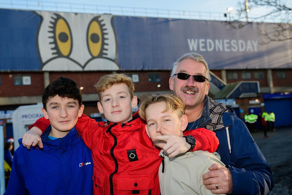 Middlesbrough fans enjoy the pre-match atmosphere <br /> <br /> Photographer Chris Vaughan/CameraSport<br /> <br /> The EFL Sky Bet Championship - Sheffield Wednesday v Middlesbrough - Saturday 23rd December 2017 - Hillsborough - Sheffield<br /> <br /> World Copyright © 2017 CameraSport. All rights reserved. 43 Linden Ave. Countesthorpe. Leicester. England. LE8 5PG - Tel: +44 (0) 116 277 4147 - admin@camerasport.com - www.camerasport.com