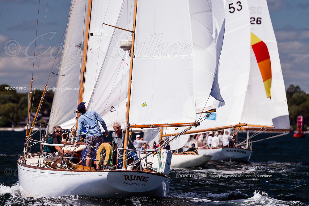 Rune sailing in the Museum of Yachting Classic Yacht Regatta.