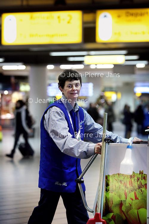Nederland, Amsterdam , 22 december 2010..Genomineerde amsterdammer van het jaar Judy Lock., genomineerd vanwege haar functie als leidster schoonmaakstaking Schiphol..Foto:Jean-Pierre Jans