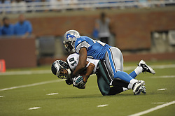 DETROIT - SEPTEMBER 19: Wide Receiver DeSean Jackson #10 of the Philadelphia Eagles is tackled during the game against the Detroit Lions on September 19, 2010 at Ford Field in Detroit, Michigan. (Photo by Drew Hallowell/Getty Images)  *** Local Caption *** DeSean Jackson