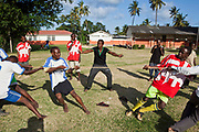 Students at the Wema centre in Mombassa, Kenya, have a game of tug-of-war. Wema provide a rehabilitation program for street children; poor, disadvantaged youth; and, orphaned and vulnerable children affected by poverty. Emotional support and education enables the children reintegration back into society.