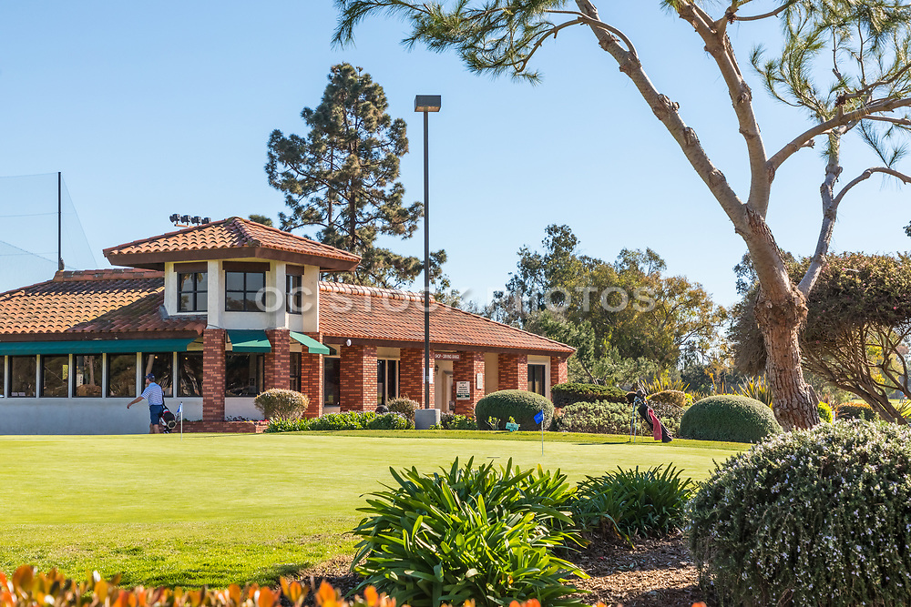 Putting Green in Front of the Pro Shop at Costa Mesa Public Golf and Country Club