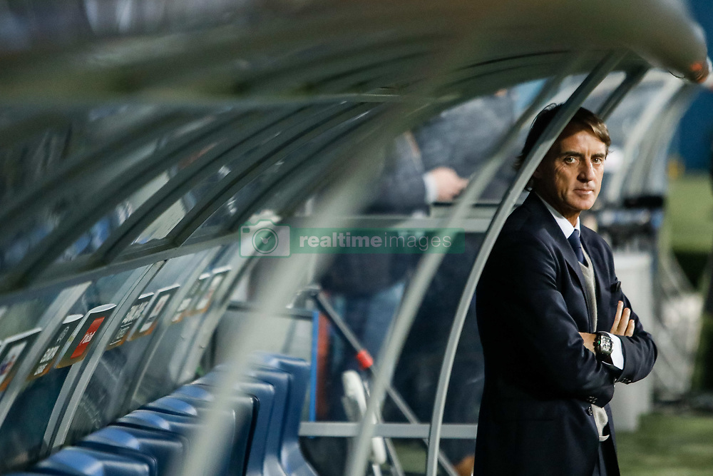 November 23, 2017 - Saint Petersburg, Russia - FC Zenit Saint Petersburg head coach Roberto Mancini looks on before the UEFA Europa League Group L match between FC Zenit St. Petersburg and FK Vardar at Saint Petersburg Stadium on November 23, 2017 in Saint Petersburg, Russia. (Credit Image: © Mike Kireev/NurPhoto via ZUMA Press)