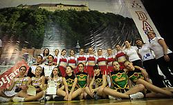 Slovenian groups photo (Smart junior, Pike, Flowers) at European Cheerleading Championship 2008, on July 5, 2008, in Arena Tivoli, Ljubljana, Slovenia. (Photo by Vid Ponikvar / Sportal Images).