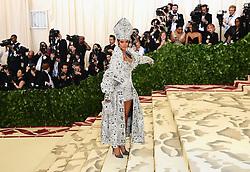 Rihanna attending the Metropolitan Museum of Art Costume Institute Benefit Gala 2018 in New York, USA.