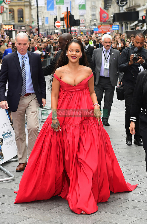 Rihanna attending the European premiere of Valerian and the City of a Thousand Planets at Cineworld in Leicester Square, London.