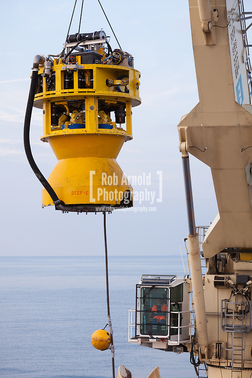 The Mass Flow Excavator (MFE) used on the South Stream Pipeline-1 route to trench through a change in slope gradient which was too great for the bend radius of the pipe prior to laying operations on the South Stream project in the Black Sea.