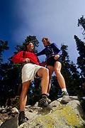 Couple hiking.