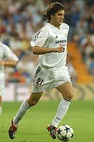Fotball, 25. august 2004,  Real Madrid - Wisla Cracow, UEFA Champion's League previuous phase<br /> Santiago Solari