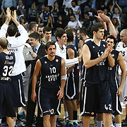 Anadolu Efes's players during their Turkish Airlines Euroleague Basketball Group C Game 6 match Anadolu Efes between Partizan at Sinan Erdem Arena in Istanbul, Turkey, Wednesday, November 23, 2011. Photo by TURKPIX
