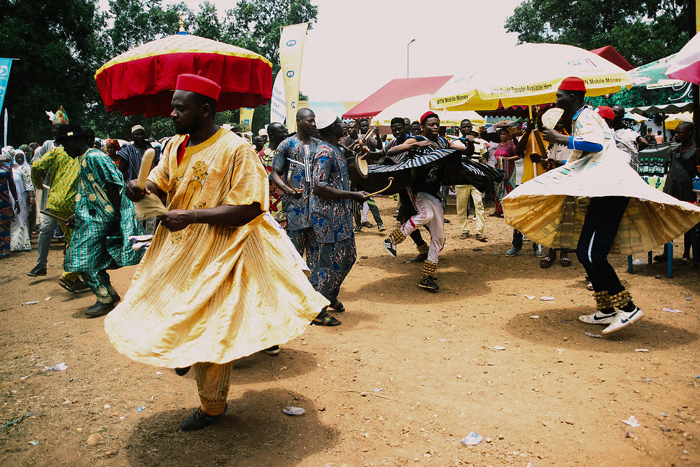 Dancing at the Yam Festival by Antoinette Dumegah