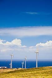 wind turbines, Upolu Airport Wind Farm, Uplolu Point, Hawi, North Kohala, Big Island, Hawaii, USA