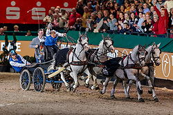 CHARDON Bram (NED), Dreef Inca, Dreef Kapitany, Favory Farao, Favory Xxxi-45-2-6, Siglavy Capriola Beni<br /> Leipzig - Partner Pferd 2020<br /> Siegerehrung<br /> TRAVEL CHARME Hotels & Resorts Trophy <br /> FEI Driving World Cup™<br /> FEI World Cup Qualifikation der Vierspänner<br /> Zeithindernisfahren für Vierspänner, international<br /> 19. Januar 2020<br /> © www.sportfotos-lafrentz.de/Stefan Lafrentz