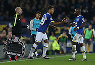 Dominic Calvert-Lewin of Everton makes his first team debut replacing Enner Valencia of Everton during the English Premier League match at Goodison Park Stadium, Liverpool. Picture date: December 13th, 2016. Pic Simon Bellis/Sportimage