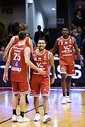 Bertone Pablo Moore Dallas Omogbo Manuel<br /> Grissin Bon Pallacanestro Reggio Emilia - VL Pesaro<br /> Lega Basket Serie A 2017/2018<br /> Reggio Emilia, 08/10/2017<br /> Foto A.Giberti / Ciamillo - Castoria