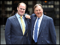 L to R David Johnstone and Lord Fink founders of The Global Party at the Press Launch of The Global Party, hold a press Conference to launch the Party at the Savoy Hotel in London where one of the parties will be held. The party consists of 360+ Parties around the World on June 27th, 28th and 29th in 120+ cities in aid of 360+ Local Benefiting Children's Charities in 2013, London, UK, Wednesday May 15, 2013. Photo by: Andrew Parsons / i-Images