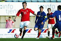 Fotball , 28. april 2011 , Norge - Moldova<br /> U19<br /> Word cup qual.<br /> Norway - Moldova<br /> <br /> Fredrik Haugen   , Norge<br /> Eugen Zhsavitchi , Moldova