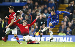 February 18, 2019 - London, United Kingdom - Chelsea's Eden Hazard.during FA Cup Fifth Round between Chelsea and Manchester United at Stanford Bridge stadium , London, England on 18 Feb 2019. (Credit Image: © Action Foto Sport/NurPhoto via ZUMA Press)