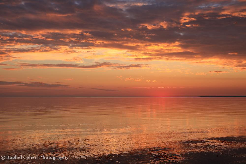 """""""Magnificent Sunset""""<br /> <br /> Beautiful sunset with reflections over Lake Michigan!"""