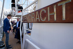 """12-09-2019 NED: Kick-off European Volleyball Men's Championship, Rotterdam<br /> Kick-off for the European Volleyball Men's Championship at the Sailing Ship """"Eendracht"""" with The CEV board, municipal officials of the playing cities, Nevobo and Topsport Rotterdam"""