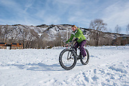 The Fat Cycle Challenge at Rio Grande Park in Aspen, Colorado during the 2015 Wintersköl celebration.