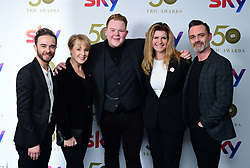Dan Brocklebank, Sally Dynevor, Colson Smith, Connie Hyde and Jack P Shepherd attending the TRIC Awards 2019 50th Birthday Celebration held at the Grosvenor House Hotel, London.