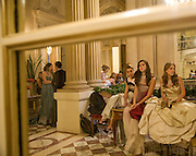 ENYAT YOUNES; VICTORIA DE SILVA; VIOLET HESKETH, , The 2008 Crillon Debutante Ball. Getting Ready the Day before. Crillon Hotel. Paris. 29 November 2008. *** Local Caption *** -DO NOT ARCHIVE-© Copyright Photograph by Dafydd Jones. 248 Clapham Rd. London SW9 0PZ. Tel 0207 820 0771. www.dafjones.com.
