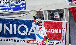 08.01.2019, Hermann Maier Weltcupstrecke, Flachau, AUT, FIS Weltcup Ski Alpin, Slalom, Damen, 2. Lauf, im Bild Wendy Holdener (SUI) // Wendy Holdener of Switzerland reacts after her 2nd run of ladie's Slalom of FIS ski alpine world cup at the Hermann Maier Weltcupstrecke in Flachau, Austria on 2019/01/08. EXPA Pictures © 2019, PhotoCredit: EXPA/ Johann Groder