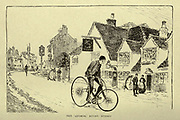The Anchor Ripley Surrey from 'Cycling' by The right Hon. Earl of Albemarle, William Coutts Keppel, (1832-1894) and George Lacy Hillier (1856-1941); Joseph Pennell (1857-1926) Published by London and Bombay : Longmans, Green and co. in 1896. The Badminton Library