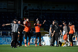 Netherlands players celebrate a touch down - Photo mandatory by-line: Dougie Allward/JMP - 18/09/2016 - American Football - Sixways Stadium - Worcester, England - Netherlands v Russia - IFAF European Championship