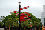 Signpost to several attractions. Darling Harbour, Sydney, Australia