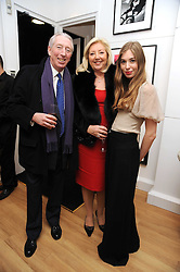 PETER & PAULA BECKWITH and their granddaughter ANOUSKA BECKWITH at a private view of 'Most Wanted' an exhibition of photographs held at The Little Black Gallery, Park Walk, London on 27th November 2008.