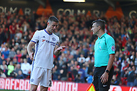 Football - 2016 / 2017 Premier League - AFC Bournemouth vs. Chelsea<br /> <br /> Gary Cahill of Chelsea questions the referees assistant about handball in the build up to Bournemouths goal at the Vitality Stadium (Dean Court) Bournemouth<br /> <br /> COLORSPORT/SHAUN BOGGUST