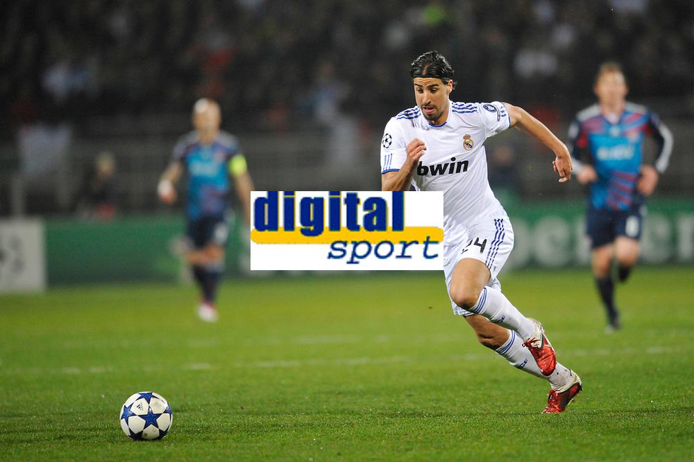 FOOTBALL - CHAMPIONS LEAGUE 2010/2011 - 1/8 FINAL - 1ST LEG - OLYMPIQUE LYONNAIS v REAL MADRID - 22/02/2011 - PHOTO GUY JEFFROY / DPPI - SAMI KHEDIRA (REAL)