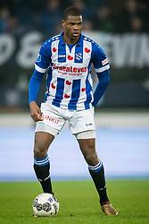 Denzel Dumfries of sc Heerenveen during the Dutch Eredivisie match between sc Heerenveen and Sparta Rotterdam at Abe Lenstra Stadium on January 26, 2018 in Heerenveen, The Netherlands