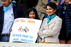 India fans supporting England in the Cricket World Cup Final - Mandatory by-line: Robbie Stephenson/JMP - 14/07/2019 - CRICKET - Lords - London, England - England v New Zealand - ICC Cricket World Cup 2019 - Final