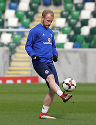 Northern Ireland's Liam Boyce during the training session at Windsor Park, Belfast.