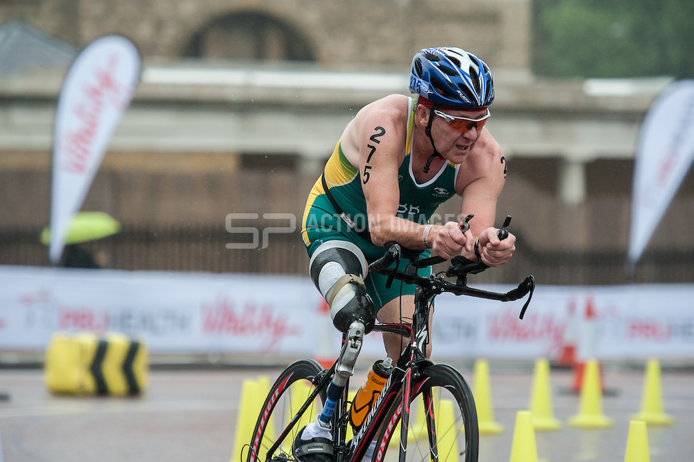 Andy Gibb (AUS), World Triathlon Championships ParaTriathlon, Hyde Park London, UK on 13 September 2013. Photo: Simon Parker