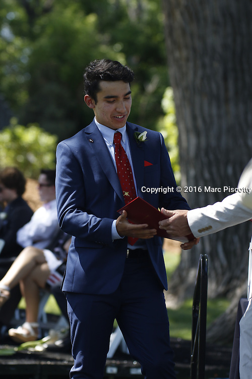 SHOT 6/2/16 9:47:44 AM - Colorado Academy Class of 2016 Commencement ceremonies at the Denver, Co. private school. The school graduated 88 seniors this year and the event capped a week filled with awards, tributes, and celebrations for the outgoing senior class. (Photo by Marc Piscotty / © 2016)