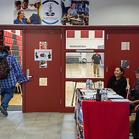 Students and career vendors entered the Wellness Center at the NTU campus for the Career Fair in Crownpoint on Thursday.