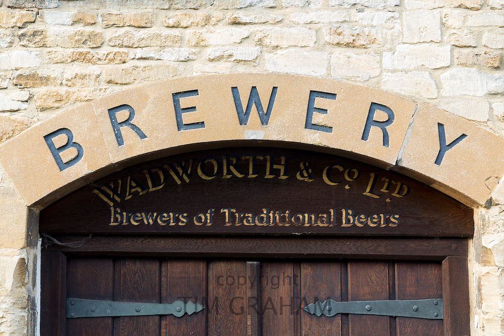 The old beer Brewery of Wadworth and Co. Ltd. in Burford in The Cotswolds, Oxfordshire, UK
