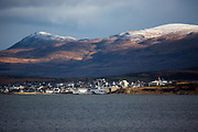 The view across Loch Indaal towards Bowmore