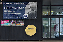 © Licensed to London News Pictures. 12/09/2016. LONDON, UK.  Chobham Academy in Newham, east London is seen partially closed today due to a high number of staff requesting late notice leave for religious observance, to mark the Muslim festival of Eid-al-Adha. Parents are reported to have been notified of children affected by text message on Friday, three days before , causing childcare problems to some. Photo credit: Vickie Flores/LNP