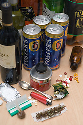 Selection of drugs and alcohol,