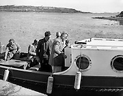 Lord and Lady Mountbatten at Mullaghmore, looking over their new craft..29-30.07.1960