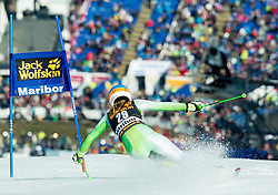 DREV Ana (SLO) competes during 5th Ladies' Giant slalom at 51st Golden Fox of Audi FIS Ski World Cup 2014/15, on February 21, 2015 in Pohorje, Maribor, Slovenia. Photo by Vid Ponikvar / Sportida