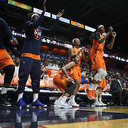 UNCASVILLE, CONNECTICUT- JULY 15:  The Connecticut Sun bench including Courtney Williams #10,  Morgan Tuck #33 and Jonquel Jones #35 of the Connecticut Sun react during their sides overtime loss during the Los Angeles Sparks Vs Connecticut Sun, WNBA regular season game at Mohegan Sun Arena on July 15, 2016 in Uncasville, Connecticut. (Photo by Tim Clayton/Corbis via Getty Images)
